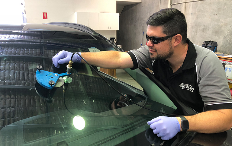 Image of windscreen repair by Morayfield Autoglass